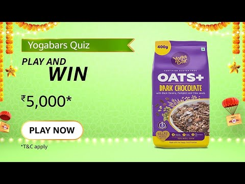 [Amazon Yogabars Quiz Answers] Yogabar Dark Chocolate Oats are rich in which nutrients?