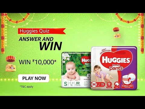 [Amazon Huggies Quiz Answers] Which brand of Huggies diapers contain real organic cotton?